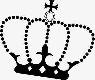 Hand Painted Black Crown PNG