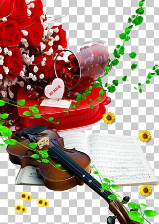 Violin Gift Valentines Day PNG