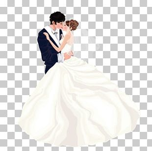 Bride Wedding Dress Marriage Couple PNG