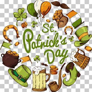 Ireland Saint Patrick's Day Festival Illustration PNG