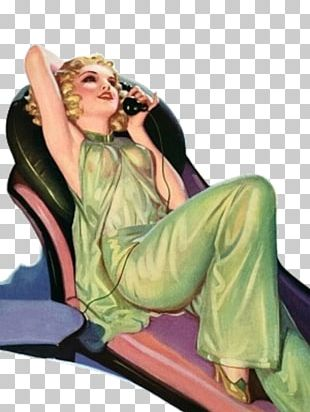 Pin-up Girl Film Fun Canvas Cover Art PNG
