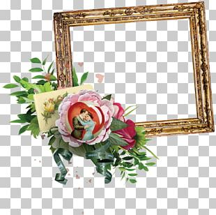 Flower Frame Watercolor Painting PNG
