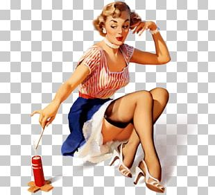 Independence Day Pin-up Girl Happy 4th Of July Illustration PNG