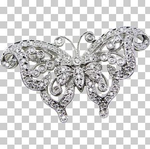 Butterfly Brooch Jewellery Pin Vintage Clothing PNG