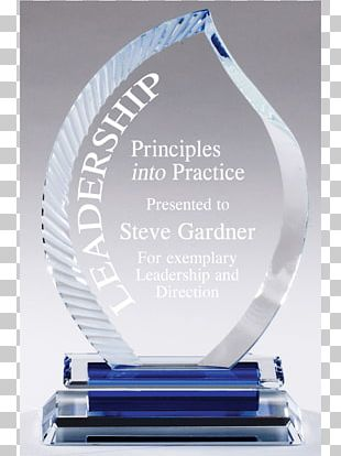 Trophy Crystal Glass Commemorative Plaque Engraving PNG
