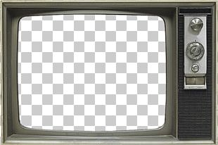 Old Grey Tv Set PNG