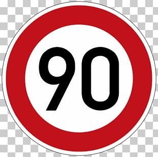 Speed Limit Road Traffic Sign Kilometer Per Hour Stock Photography PNG