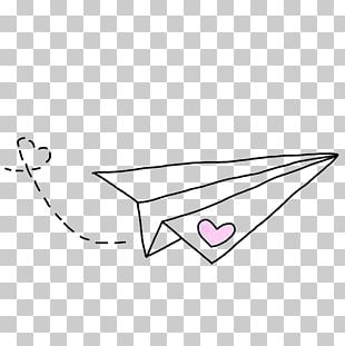 Hand Painted Paper Plane PNG