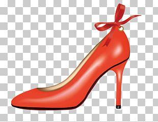 High-heeled Footwear Red Shoe Orange PNG
