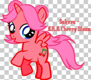 My Little Pony Cherry Blossom Fan Art Cartoon PNG