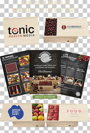 Hamper Food Gift Baskets Brochure PNG