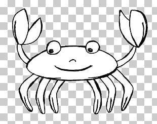Crab Cartoon Black And White PNG