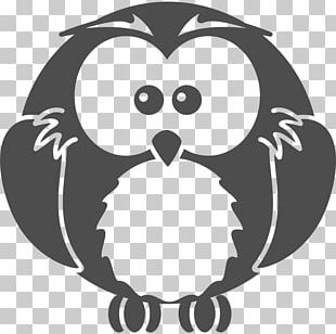 Black-and-white Owl Black And White PNG