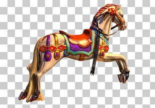Santa Monica Pier Horse Carousel Stock Photography PNG