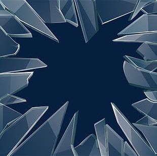 Transparent Glass Fragments PNG