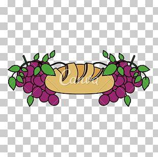 Wine Grape Sacramental Bread PNG