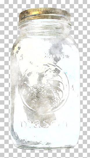 Mason Jar Glass Bottle Liquid Water PNG