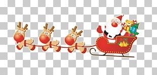 Santa Clauss Reindeer Santa Clauss Reindeer Christmas Sled PNG