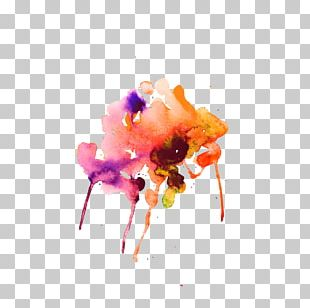 Watercolor Painting Abstract Art Illustration PNG
