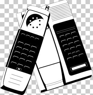 Feature Phone Mobile Phones Telephone Black And White PNG