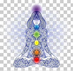 Chakra Meditation Lotus Position Woman Illustration PNG