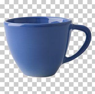 Coffee Cup Blue Ceramic Mug Rice PNG