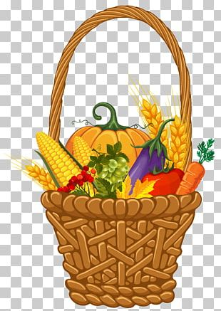 Basket Autumn Thanksgiving Harvest PNG