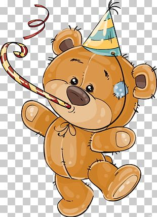 Birthday Cake Teddy Bear Wedding Invitation PNG
