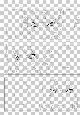 Eye Line Art Drawing White PNG