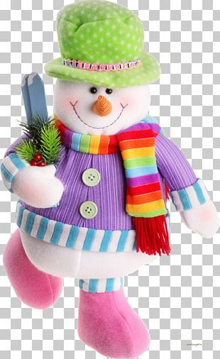 Santa Claus Reindeer Snowman Christmas PNG
