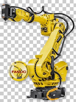 Robotics FANUC Robot Welding Robotic Arm PNG