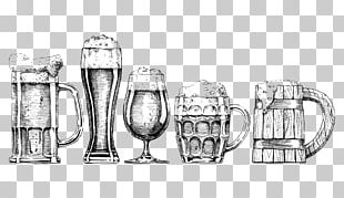 Beer Glassware Drawing Illustration PNG