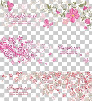 Wedding Invitation Paper Banner PNG