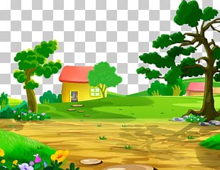 Cartoon House Drawing PNG