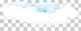 Sky Blue Cloud Watercolor Painting PNG