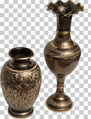 Brass Vase Metal Bronze Decorative Arts PNG