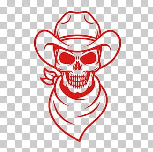 Skull American Frontier Cowboy PNG