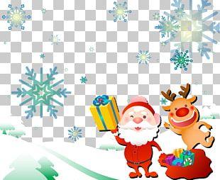 Rudolph Santa Claus Reindeer Christmas Gift PNG