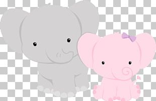 Elephant Baby Shower Animal PNG