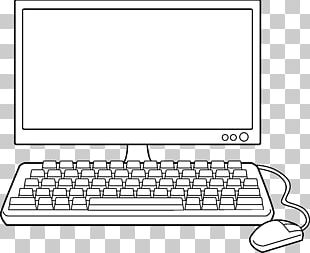 Laptop Desktop Computers Black And White PNG
