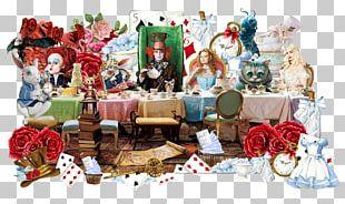 Alice's Adventures In Wonderland Queen Of Hearts Paper Painting PNG
