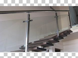 Glass Stairs Baluster Guard Rail Handrail PNG