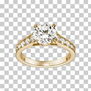 Engagement Ring Diamond Wedding Ring Gold PNG