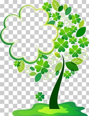 Borders And Frames Frames Tree Four-leaf Clover PNG