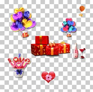Balloon Gift Valentine's Day Computer File PNG