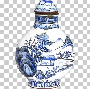 Blue And White Pottery Ceramic Cobalt Blue Artifact Porcelain PNG
