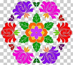Flower Art Floral Design Kolam PNG