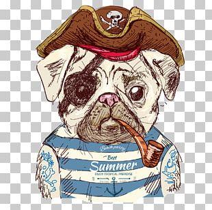 Pug Drawing Illustration PNG
