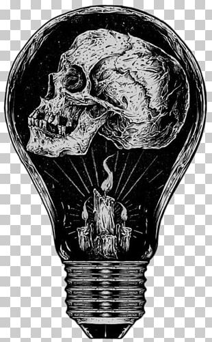 Calavera Incandescent Light Bulb Skull PNG