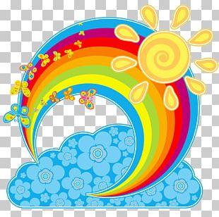 Rainbow Cloud Euclidean Sky PNG